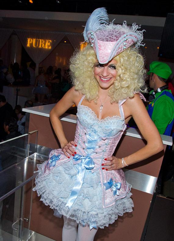 "AnnaLynne McCord of ""90210"" Celebrates Halloween as Marie Antoinette at PURE Nightclub"