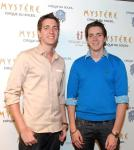 James and Oliver Phelps at Mystère by Cirque du Soleil at Treasure Island Las Vegas