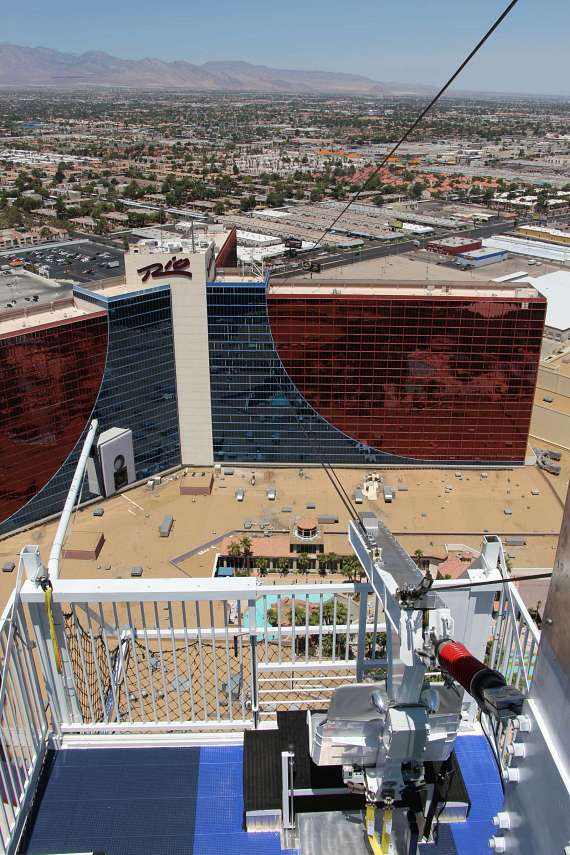 Bruce Buffer Rides the VooDoo Zip Line to Celebrate Grand Opening of the Newest Attraction at The Rio in Las Vegas