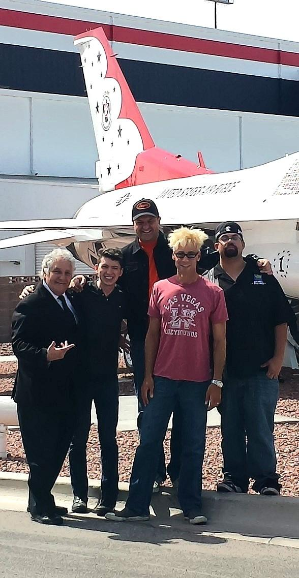 MURRAY and Friends perform for USO in the Thunderbird Hanger at Nellis Air Force Base