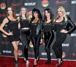 "Jennifer Romas with Cast of Sexxy arrive on Red Carpet at ""Murray the Magician"""