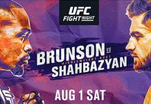 Top Middleweight Contenders Clash as (#8) Derek Brunson and (#9) Edmen Shahbazyan Headline First UFC August Event