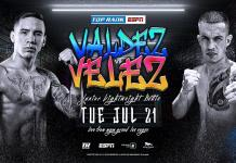 "July 21: Oscar Valdez-Jayson Velez, KO Artist Edgar Berlanga and ESPY Winner Kim Clavel Take Center Stage Inside MGM Grand ""Bubble"""