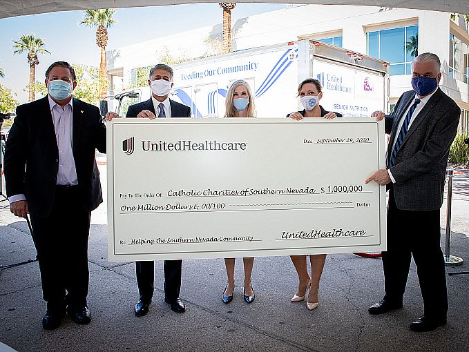 UnitedHealthcare Donates $1 Million to Support Food Security and Housing Programs Offered by Catholic Charities of Southern Nevada