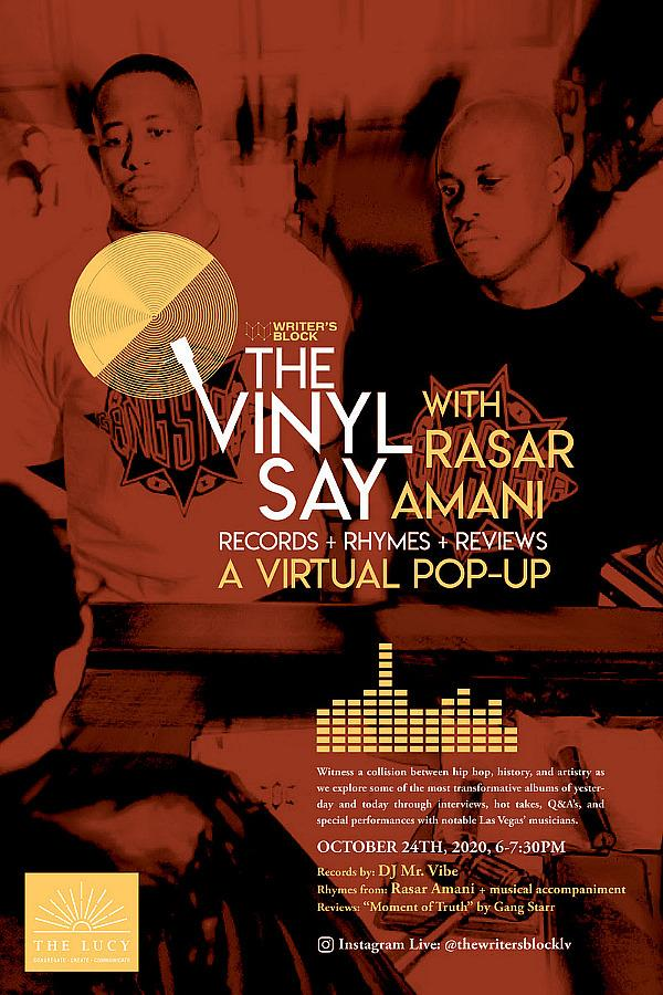 "The Vinyl Say with Rasar Amani Returns with Records + Rhymes + Reviews A Virtual Pop Up Spotlighting Gang Starr's Pivotal Album ""Moment of Truth"""