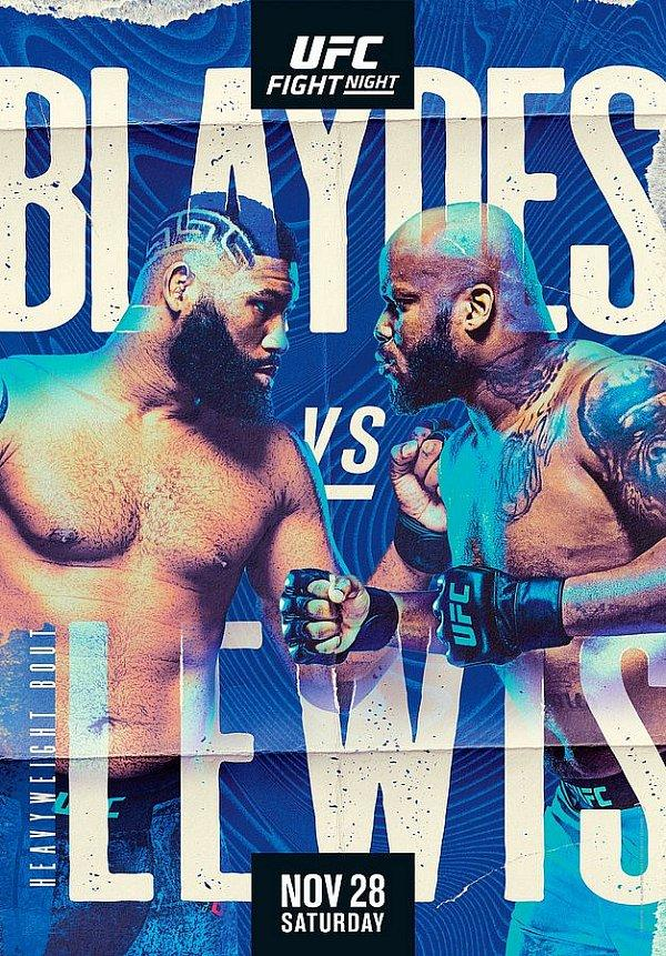 Heavyweight Finishers Clash as (#2) Curtis Blaydes and (#4) Derrick Lewis Battle at Ufc Apex in Las Vegas Nov. 28