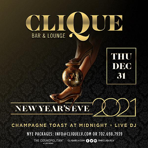 CliQue Bar & Lounge and The Barbershop Cuts & Cocktails New Year's Eve Celebrations