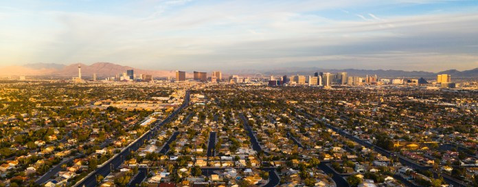 Aerial view of the entire Las Vegas Valley