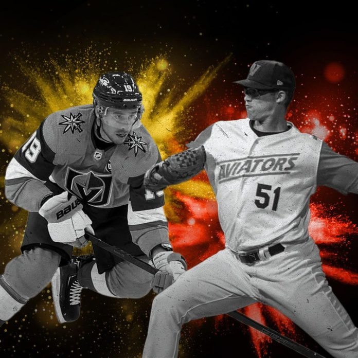 Las Vegas sports players from the Vegas Golden Knights and Las Vegas Aviators.