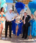 Former Mayor Oscar B. Goodman and Mark Prows, Vice President of Entertainment for MGM Grand, after cutting the ribbon