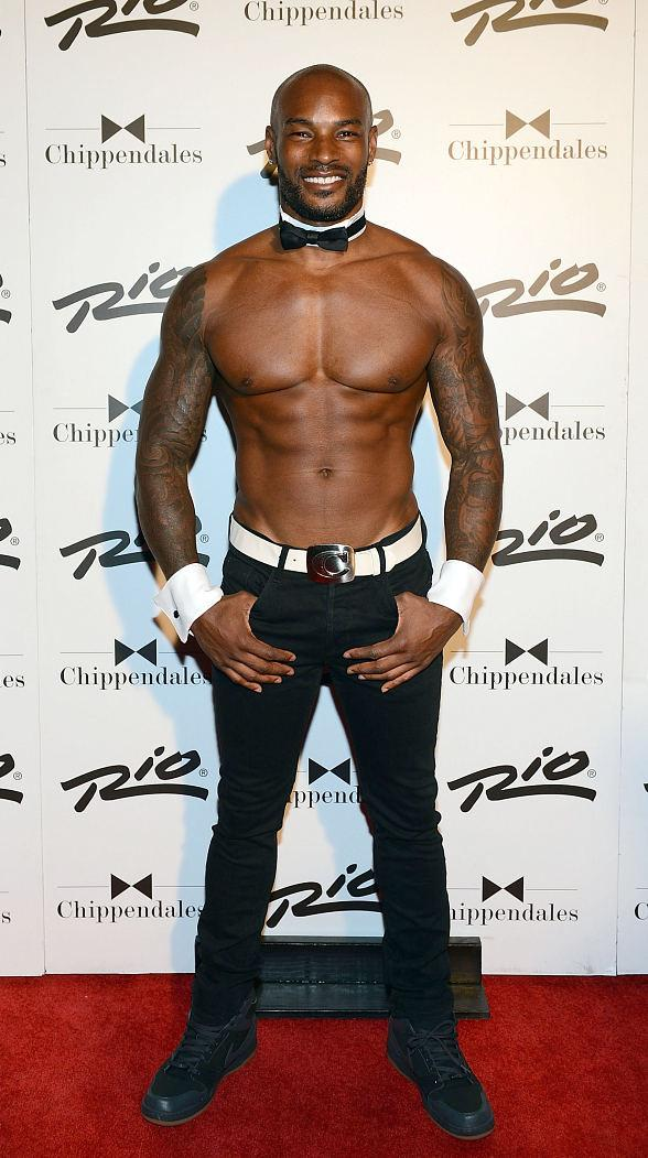 Supermodel and actor Tyson Beckford performs in The World Famous Chippendales Show at The Rio in Las Vegas
