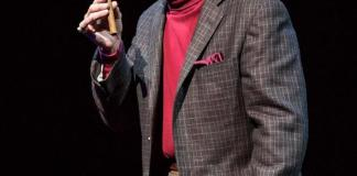 """Alan Safier as George Burns in """"Say Goodnight Gracie"""" at The Smith Center for Performing Arts in Las Vegas"""