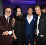 """Michael Chow. Eva Chun Chow, Ryan Seacrest and Derek Hough arrive at Mr Chow Caesars Palace following the debut of """"Jennifer Lopez: All I Have"""""""