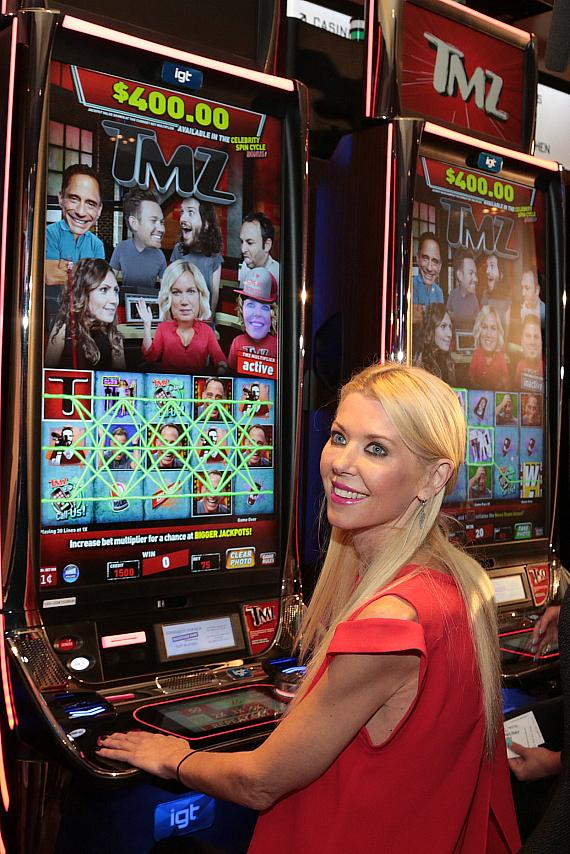 TMZ's Harvey Levin and Special Guest Tara Reid at Official Launch Party for IGT's TMZ Video Slots at Hard Rock Hotel & Casino Las Vegas