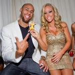 Kendra Wilkinson-Baskett and Hank Baskett at PURE Nightclub