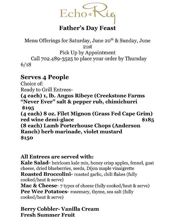 Father's Day Weekend Specials