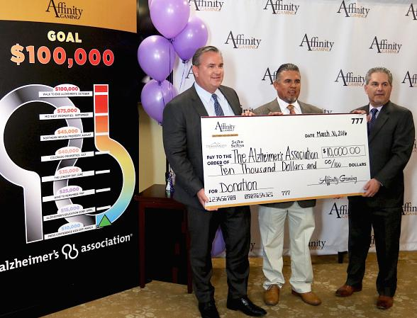 Affinity Gaming Announces $100,000 Commitment to Alzheimer's Association