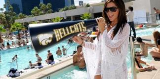 Ashley Tisdale Cheers at WET REPUBLIC