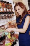Audrina Patridge filling up her Sugar Factory goodie bag with her favorite mouthwatering confections
