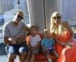 Anaheim Ducks Captain Ryan Getzlaf and family ride the High Roller at The LINQ in Las Vegas