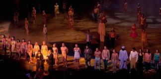 """The original cast members take center stage after the 6,000th performance of """"O"""""""