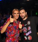 Celine Dion and Canadian-based DJ, Dzeko, at OMNIA Nightclub inside Caesars Palace on Saturday, June 8
