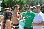 Chad Michael Murray and friends at the pool