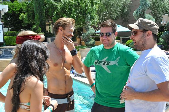 Chad Michael Murray spends the weekend at The Palazzo
