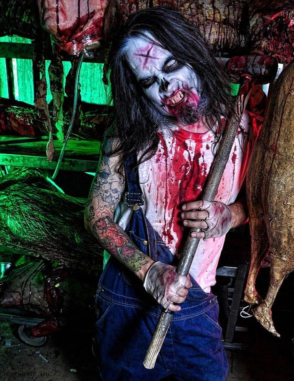 Character with Ax at Fright Dome