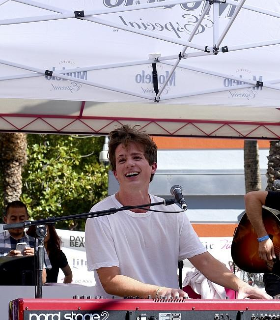 """Billboard Music Award-Winner Charlie Puth Entertains the Crowd at GO Pool at Flamingo Las Vegas with Hit Songs Including """"See You Again"""""""