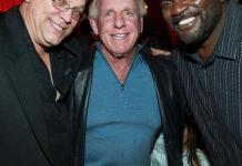 Chicago Bears Steve McMichael, WWE wrestler Ric Flair and NFL Hall of Famer Lawrence Taylor of the NY Giants at TAO