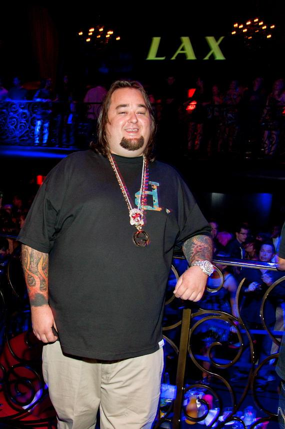 Chumlee with Birthday Cake at LAX Nightclub