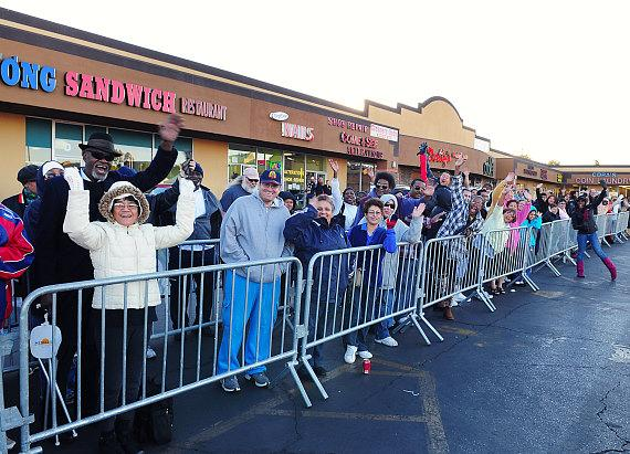 Hundreds of people lined up to receive a free turkey at the Cricket Thanksgiving Festival on Tuesday, Nov. 23. The first 250 families received a complimentary frozen turkey.