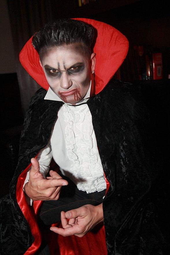 DJ Pauly D dresses up as a vampire for Vanity Nightclub's Sinner's Ball