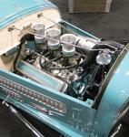 """Engine view of """"The Contender"""" 1929 Ford Model A Roadster at Barrett-Jackson"""