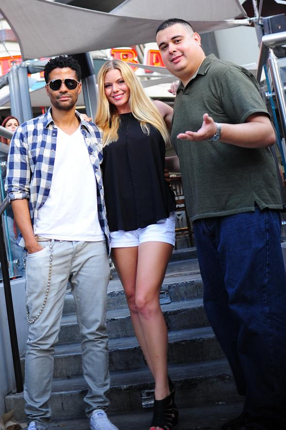 "Eric Benét with co-hosts Christina ""CC"" Christensen and Robert Blasi"