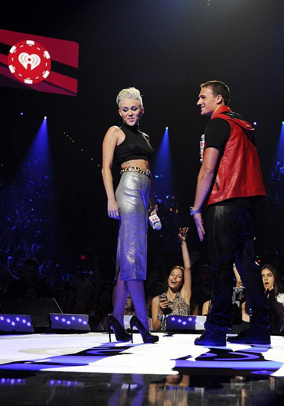 Ryan Seacrest and Britney Spears at iHeartRadio Music Festival