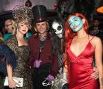 Devon Aoki, Jonathan Cheban, Steve Aoki and Nicole Zimmermann attend Casamigos Halloween party at CATCH Las Vegas at ARIA Resort & Casino