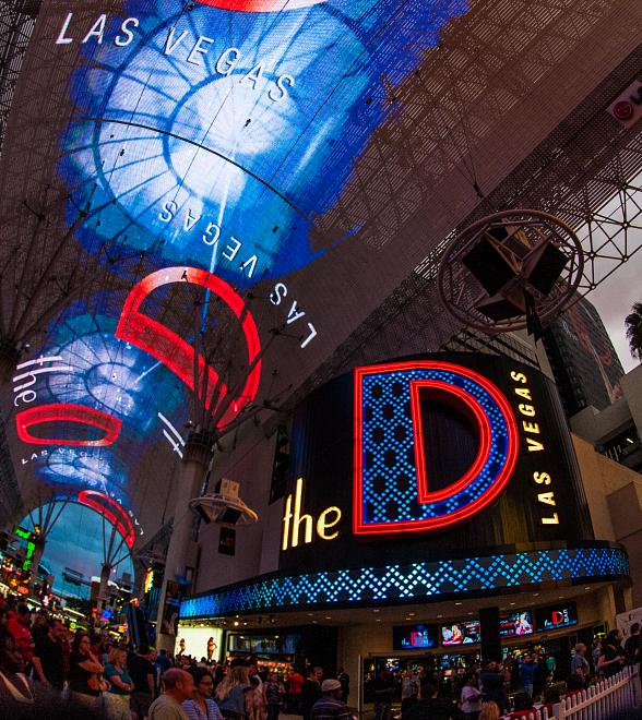 Fremont Street Experience entrance to the D Las Vegas
