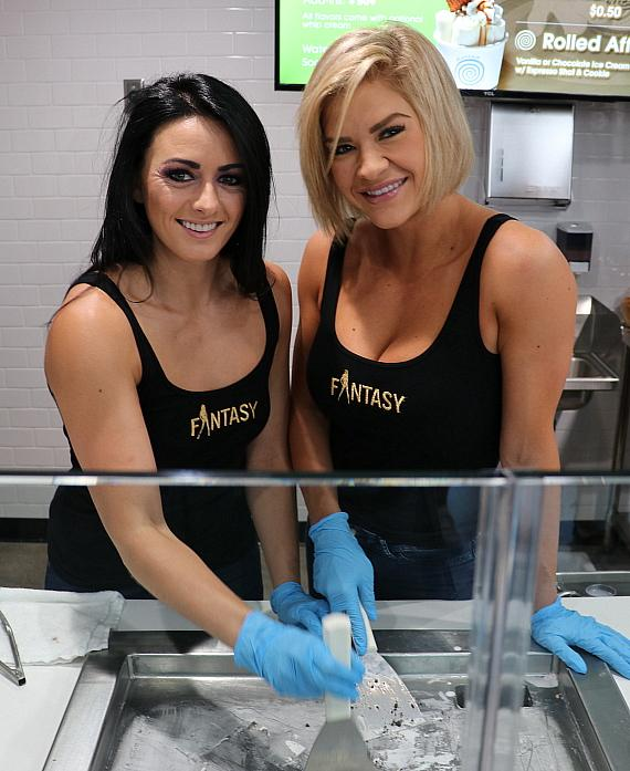 Rolled Ice Cream at Blue Diamond Celebrates Its Grand Opening with Fantasy, Frank Marino, Marc Savard, Thunder From Down Under and Sabina Kelley