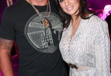 Frank Mir and wife at Gallery Nightclub