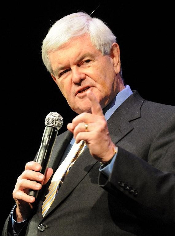 Republican Presidential Candidate Newt Gingrich speaks at The Venetian Hotel in Las Vegas