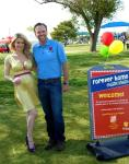 Holly Madison with Andy Bischel at the Forever Home Picnic to Benefit the Lied Animal Foundation