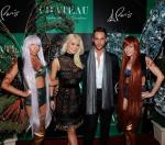 Holly Madison and good friend Josh Strickland with Butterfly girls on Chateau Gardens red carpet