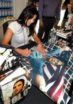 Hope Solo signing poster inside Sugar Factory