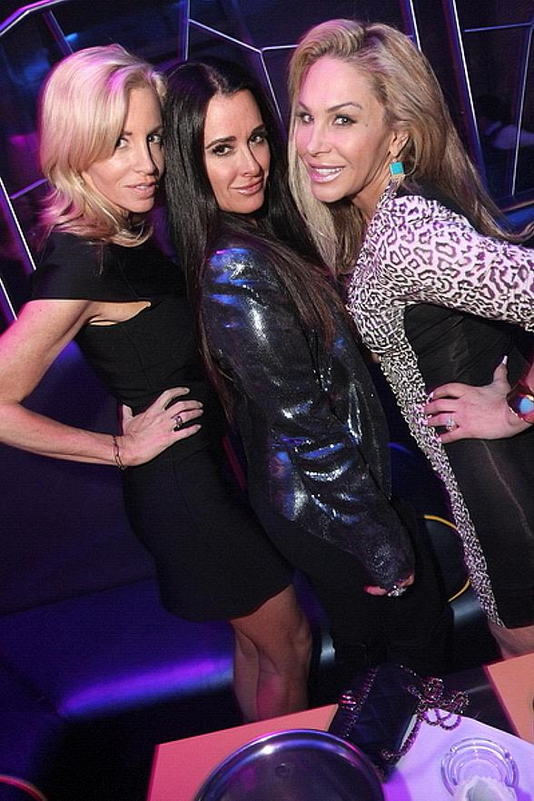 Camille Grammer, Kyle Richards and Adrienne Maloof