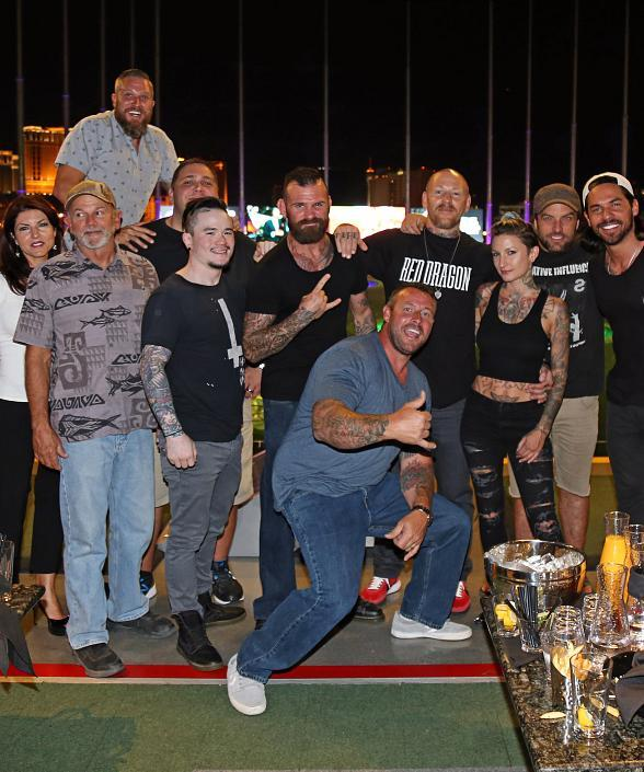 BMX star TJ Lavin and friends at Topgolf LasVegas