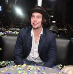 Jackson Rathbone enjoys confetti and glowstick presentation from Ghostbar's gorgeous staff while partying.
