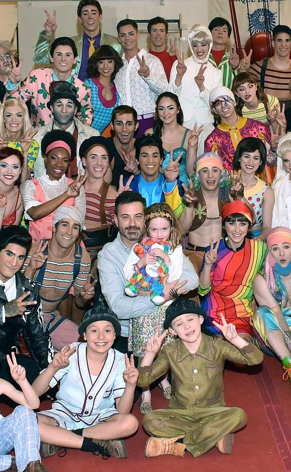 """Jimmy Kimmel Attends """"The Beatles LOVE by Cirque du Soleil"""" at The Mirage Las Vegas"""
