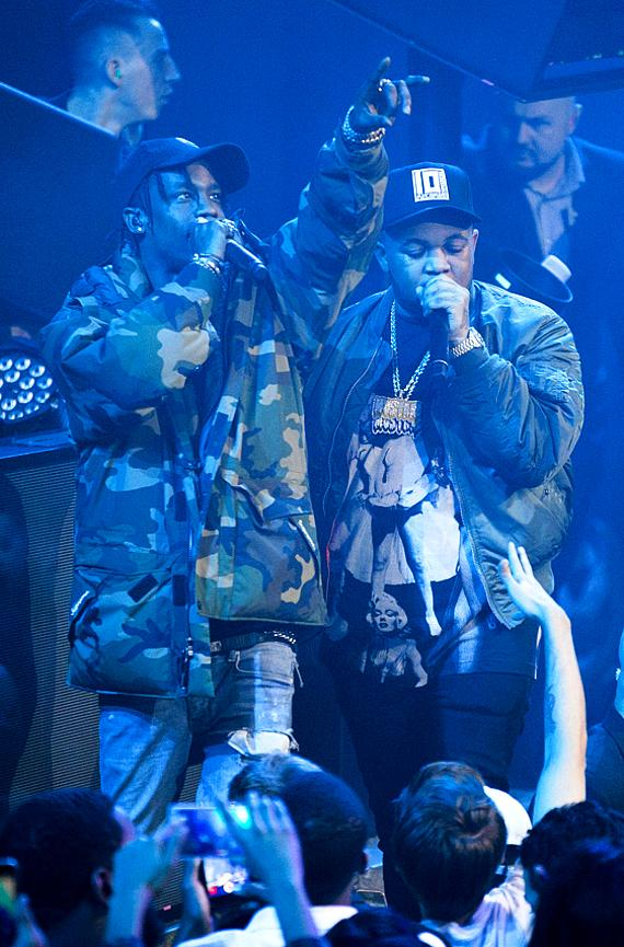 Travis Scott & DJ Mustard perform at LIGHT Nightclub